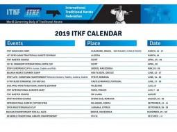 Kalendář mezinárodních akcí 2019